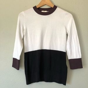 Kate Spade Color Black While Black Brown Sweater S